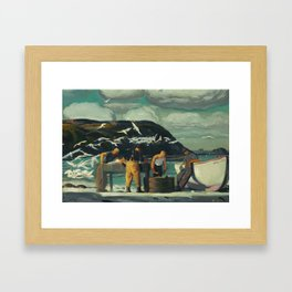 Cleaning Fish by George Bellows, 1913 Framed Art Print
