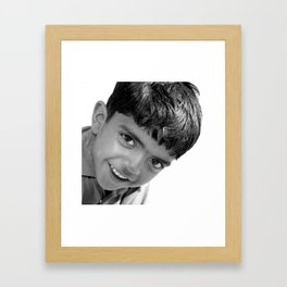 Boy in the Thar Desert (B&W) Framed Art Print