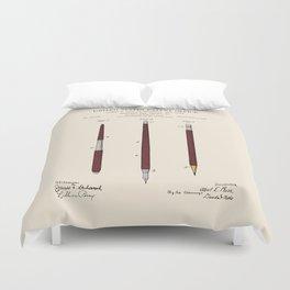 Pencil Set Patent Duvet Cover
