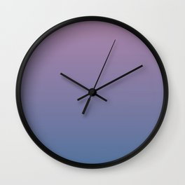 Gradient Dawn Pink Purple Blue Wall Clock