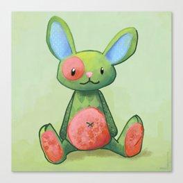 Le lapin qui aimait les fleurs Canvas Print