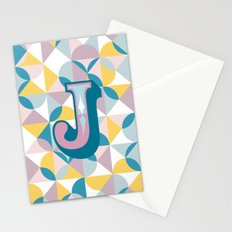 Letter J Stationery Cards