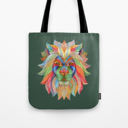 Rainbow Lion Tote Bag