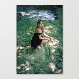Mari in the river Canvas Print