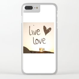 Live Love Clear iPhone Case