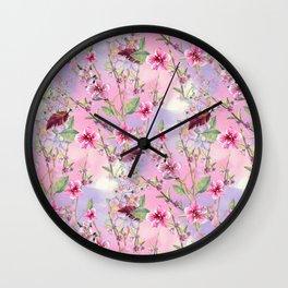 Cherry Blossoms Pattern Wall Clock