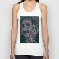 marx Tank Tops featuring Groucho Marx - Duck Soup Screenplay Print by Robotic Ewe