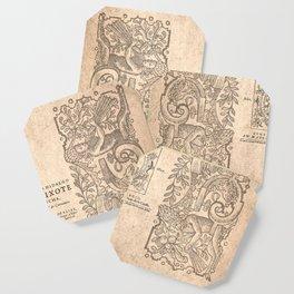 Cervantes. Don Quijote, 1605. Coaster
