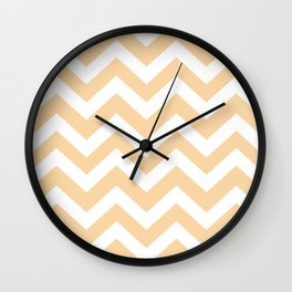 Deep champagne - pink color - Zigzag Chevron Pattern Wall Clock