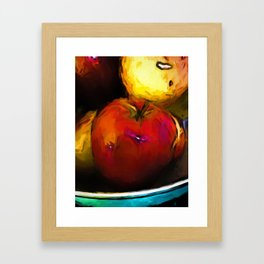 Wine Apple with Gold Apples Framed Art Print