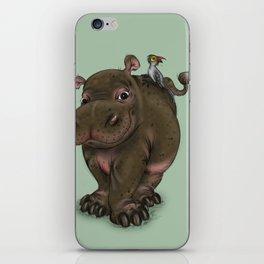 Hippo and Bird Friend iPhone Skin
