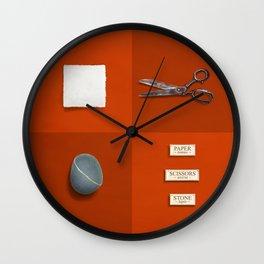 Paper, Scissors, Stone Wall Clock