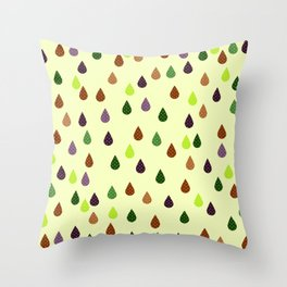 Retro art drops print, abstract print Throw Pillow