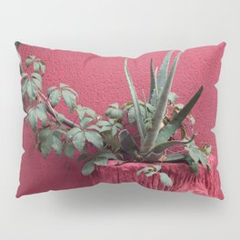 Pink and plant Pillow Sham
