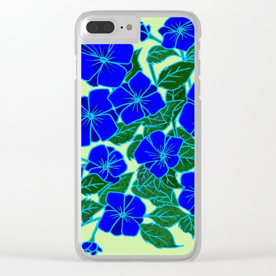 Blue Violets #5 Clear iPhone Case