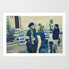 Honk If You Support Workers Art Print