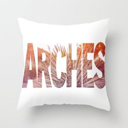 Arches National Park, Southern Utah Throw Pillow