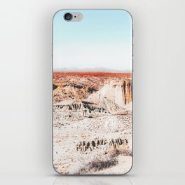 Desert with blue sky in summer in California, USA iPhone Skin