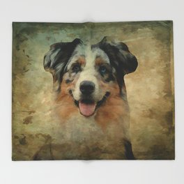 Australian Shepard - Aussie Throw Blanket