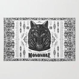 Mononoke Hime Wolf Pride Letterpress Line Work Rug