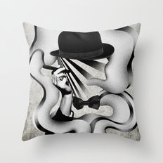 gentle smoke Throw Pillow