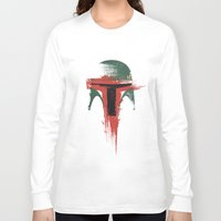 hunter Long Sleeve T-shirts featuring Bounty Hunter by Victor Vercesi
