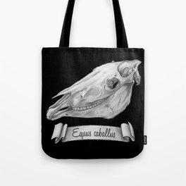 Horse Skull in Ink Tote Bag