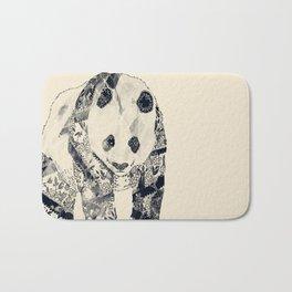 Tattooed Panda {cream} Bath Mat