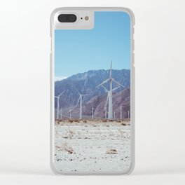 Palm Springs Windmills VII Clear iPhone Case