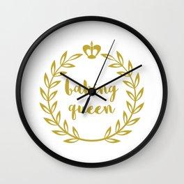 Baking Queen Wall Clock