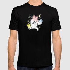 naughty halloween bunny ghost Mens Fitted Tee SMALL Black