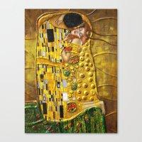 klimt Canvas Prints featuring My Klimt by Müge Başak