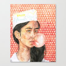Bubblegum Girl Canvas Print