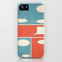 Empty Comic iPhone Case