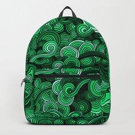 Swirly Emerald Green Backpack