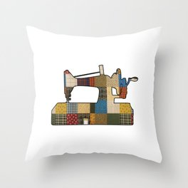 Sewing Machine Patchwork Quilting Quilt Crafting Gift Throw Pillow