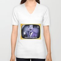 theater V-neck T-shirts featuring Texaco Star Theater by lanjee