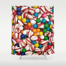 Peppermints and Gumballs Shower Curtain