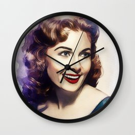 Rhonda Fleming, Hollywood Legend Wall Clock