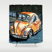 bug Shower Curtains featuring Bug by Jonas Ericson