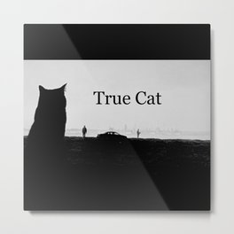 True Cat Metal Print