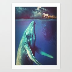 The Whale and the Wolf Art Print