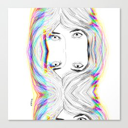 fresh face 2 /glitched Canvas Print