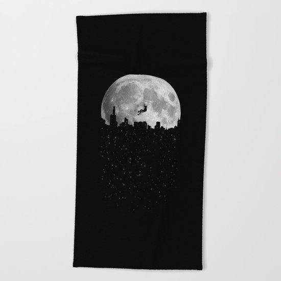 The Moon Climber Beach Towel