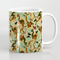 swimming Mugs featuring Swimming by Boiling Point Press