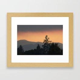 Mountain Sunset Oregon Framed Art Print