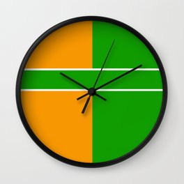 Team Color 6...green,orange Wall Clock