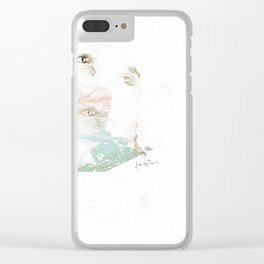 """""""uncomfortably numb"""" Clear iPhone Case"""