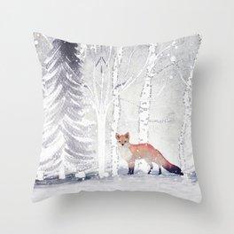 FOX FOX FOX Throw Pillow