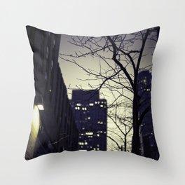 Morning  at 30 Rock Throw Pillow